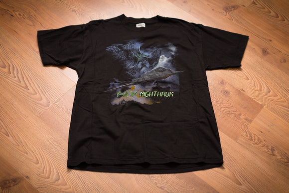 90s F-117a Nighthawk Stealth Fighter T-Shirt, US Air Force, Military
