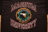 90s Magnum University T-Shirt, XL, Vintage Tee, Pistol Firearms, .44 Gun, Research