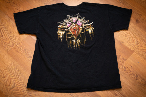 2000s World of Warcraft Horde Crest T-Shirt, L, WoW Gamer Tee, RPG