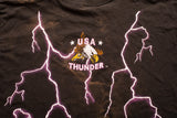 90s USA Thunder Native American Eagle T-Shirt, XL, Vintage Tee, Lightning, Indian
