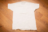 80s Fruit of the Loom Blank White T-Shirt, M, Vintage Tee, Plain, Single Stitch, FOTL