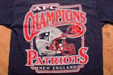 Y2K New England Patriots AFC Champions T-Shirt, L, Graphic Tee, NFL Football