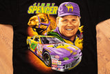 90s Jimmy Spencer Joe Camel Powered T-Shirt, L, Vintage Tee, NASCAR, Chase