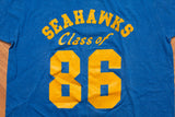 80s Seahawks Class of 86 T-Shirt, S, Vintage School Tee, Screen Stars