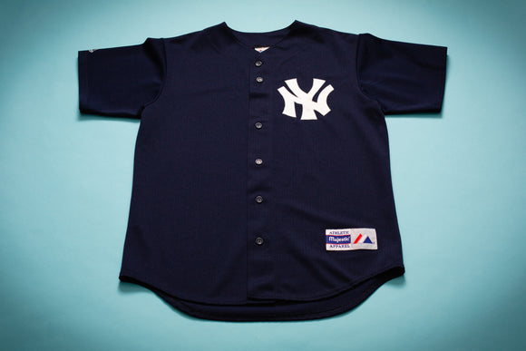 90s New York Yankees Jersey, M/L, Vintage MLB Baseball Majestic Shirt, NY