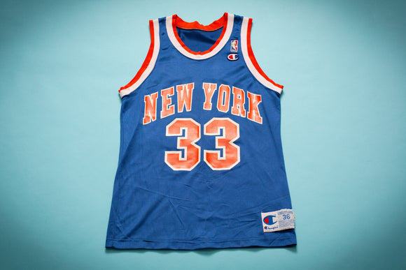 90s Patrick Ewing 33 New York Knicks Jersey, XS/S, Vintage Champion Shirt