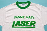 80s Fannie Mae's Laser Ringer T-Shirt, M, Vintage Tee, Government Home Loan