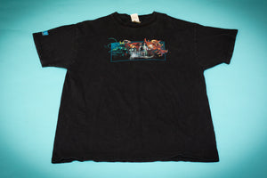 Black t-shirt from BlizzCon 2005 with graphic of characters from World of Warcraft, StarCraft, and Diablo