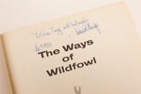 70s SIGNED The Ways of Wildfowl Book by Richard E Bishop, Vintage HC/DJ, Nature Birds Artwork, Illustrated