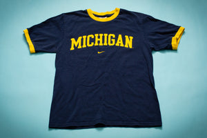 Michigan Wolverines Nike Ringer T-Shirt, S, College University Tee