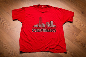 80s Chicago Skyline T-Shirt, M, Vintage Tee, Windy City, Sears Tower