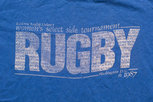 80s 1987 Rugby Women's Tournament T-Shirt, S, Vintage 1980s, Eastern Union, Select Side, Washington DC