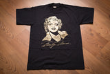 80s Marilyn Monroe T-Shirt, S, Gold Foil Portrait, Vintage Tee, Hollywood Actress