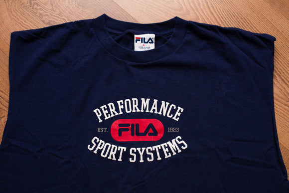90s FILA Spell Out Logo Red T-shirt, Rap Hip Hop Tee, Vintage 1990s, Performance Sport Systems, Athletic Sportswear