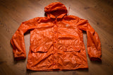70s-80s Chaps by Ralph Lauren Orange Nylon Jacket, S/M, Vintage Polo Logo