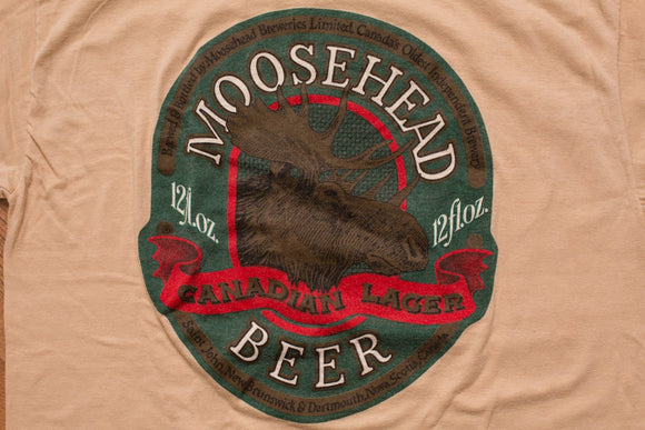 80s Moosehead Beer T-Shirt, Canadian Lager, Hipster Moose Graphic Tee, Vintage