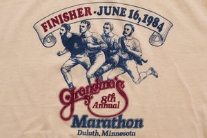 80s 1984 Grandma's Marathon Finisher T-Shirt, 8th Annual, Vintage 1980s, Duluth Minnesota, Hipster Graphic Tee