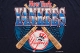 90s BIG New York Yankees T-Shirt, Logo 7, 2XL, Vintage 1990s, MLB Baseball