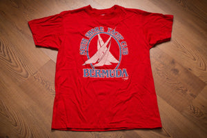 80s Bermuda South Shore Yacht Club T-Shirt, S, Vintage Tee, Nautical Sailing