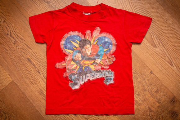 80s Superman II Movie T-Shirt, Kids/Youth, Vintage Tee, Super Man, DC Comics