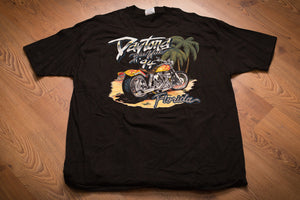 90s Daytona Beach 1994 Bike Week T-Shirt, XL, Vintage Tee, Miller's Custom Parts, Harley-Davidson Motorcycles