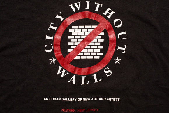 90s City Without Walls T-Shirt, M/L, New Jersey Urban Art Gallery, Vintage Tee