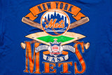90s BIG New York Mets T-Shirt, 2XL, Vintage Tee, MLB Baseball NY Team, NYC