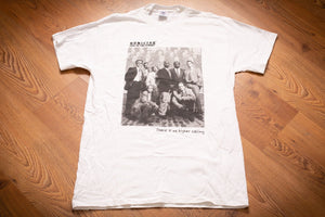vintage 90s white t-shirt with photo of cast from homicide life on the street