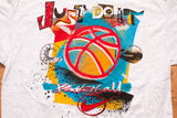 90s NOS Nike Basketball T-Shirt, Just Do It, XL, Vintage Tee, Hip Hop Graffiti, Hoops