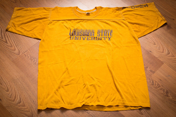70s LSU Tigers Jersey T-Shirt, XL, Vintage 1970s, Louisiana State University Tee