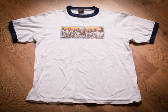 vintage 90s white t-shirt with graphic for beneath the planet of the apes movie