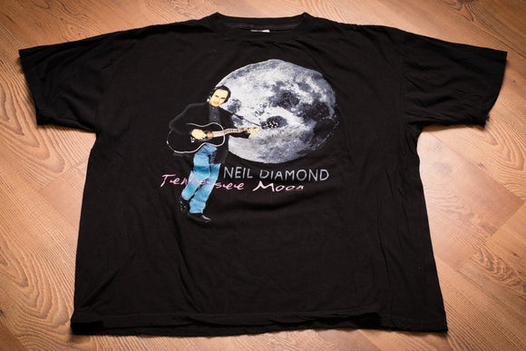 90s Neil Diamond Tennessee Moon T-Shirt, 2XL, Vintage Tee, 1996, Country