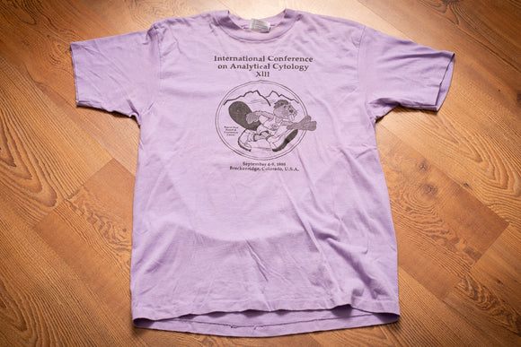 80s Analytical Cytology XIII T-Shirt, M, Vintage Tee, 1988 Beaver Run, Colorado