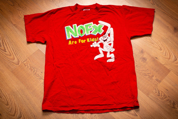 90s NOFX Are For Kids! T-Shirt, M, Vintage Tee, Punk Rock Band, Rabbit, Skater
