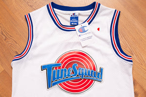 90s NOS Space Jam Tune Squad Taz Jersey, S/M, Champion Brand, Vintage 1990s, Mesh Tank Top Shirt, Hip Hop Streetwear, Sportswear, Basketball