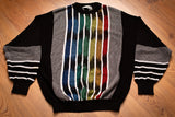 90s St Croix Shop Sweater, Rainbow Stripes, L, Vintage 1990s, Rap Hip Hop Fashion, Long Sleeve Pullover Knit Shirt, Throwback Streetwear