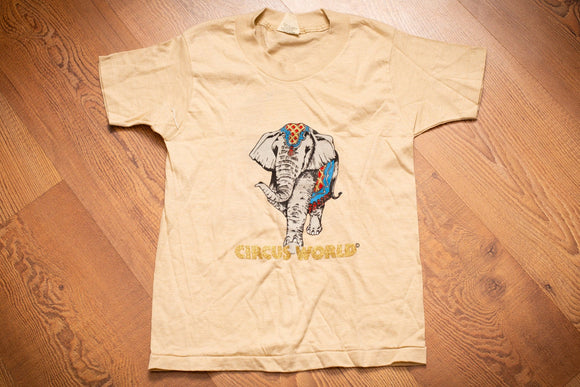 RARE 80s Circus World Elephant T-Shirt, Kids/Youth M, Vintage, Ringling Bros Barnum & Bailey