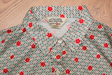 "60s-70s Sears ""The Shirt"" Elegant Button Up Shirt/Blouse, Vintage, Disco Floral"