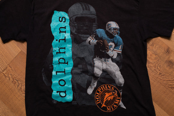 80s Dan Marino Miami Dolphins T-Shirt, M, Vintage 1980s, Legendary NFL Quarterback, 1987 Florida Football Team Apparel