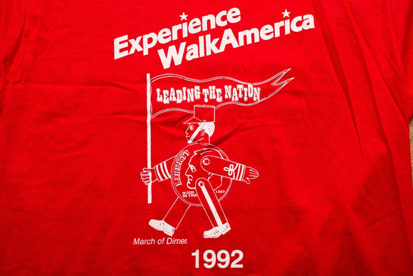 90s 1992 Walk America T-Shirt, Kmart, March of Dimes Toy Soldier, Vintage 1990s, Fundraiser Graphic Tee, Screen Stars