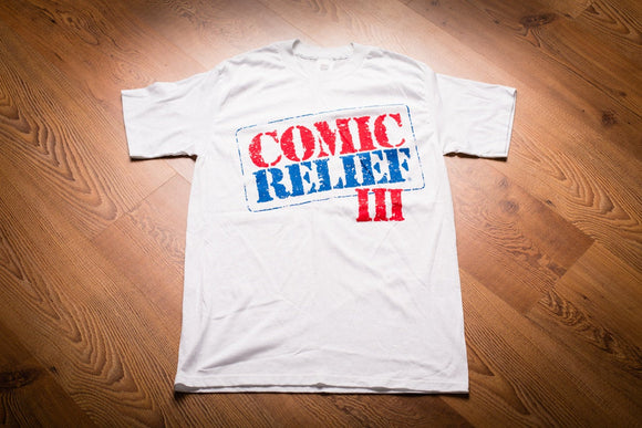 80s Comic Relief III T-Shirt, S, 1989 Comedy Documentary, Vintage Tee