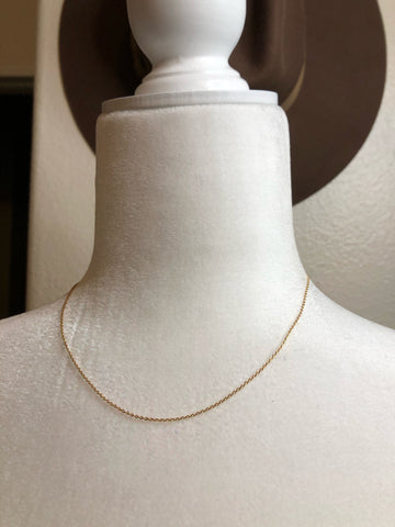 """Zola"" dainty gold necklace"