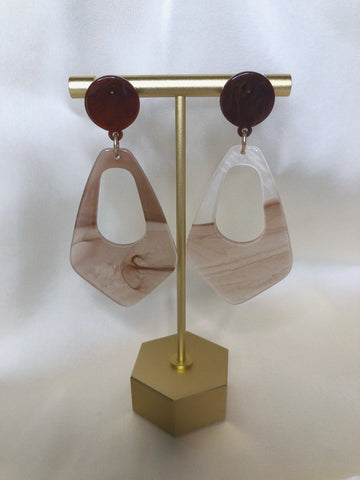 """Tessa"" acetate earrings"