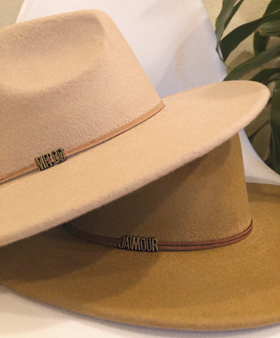 """Zeal"" felt wide brim custom hat"