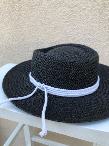 """Lilly"" straw wide brim sun hat"