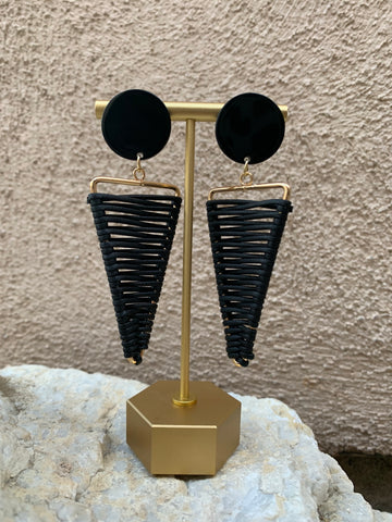 """Dusky"" triangle drop earrings"