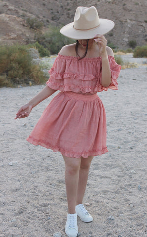 """Chosen"" mini ruffled dress"