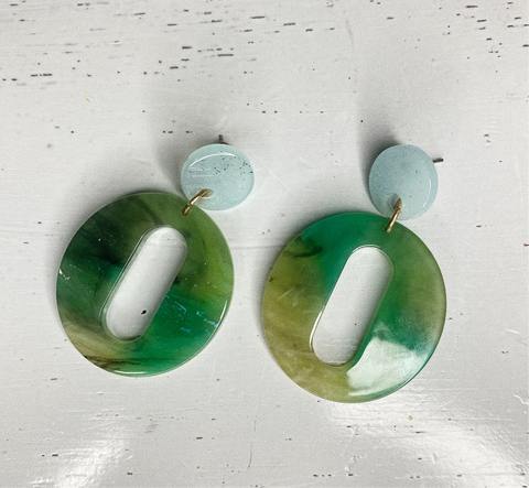 """Caribbean"" earrings"