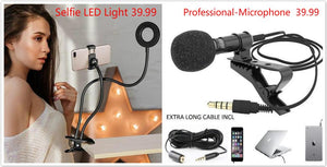 Universal Professional Portable Selfie LED Light with Cell Phone Holder™