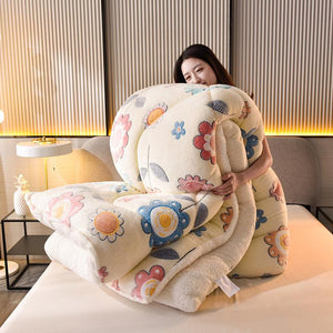Warm Thickened Natural Cotton Winter Double-Sided Snow Velvet Quilt